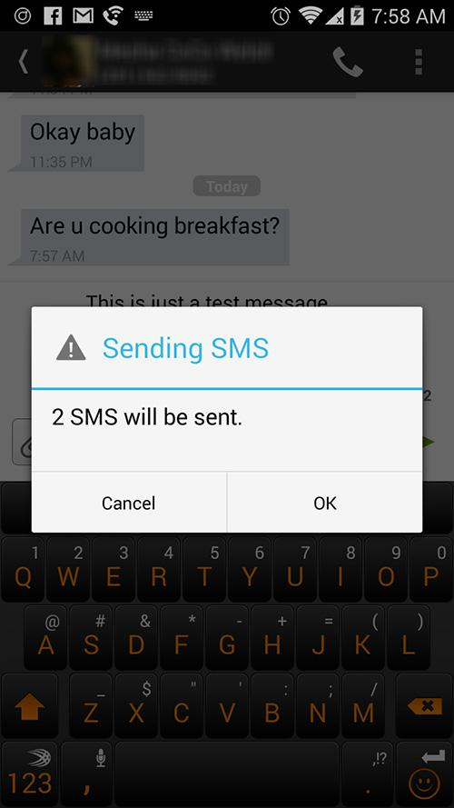 the only zte zmax texting issues giving them